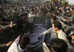 Luchas obreras golpean al gobierno de Mubarak