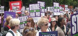 Greve contra o teto salarial de Brown
