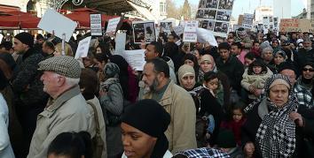 Manifestación en apoyo a Palestina en Francia