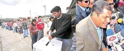 Rafael Correa reelecto en Ecuador