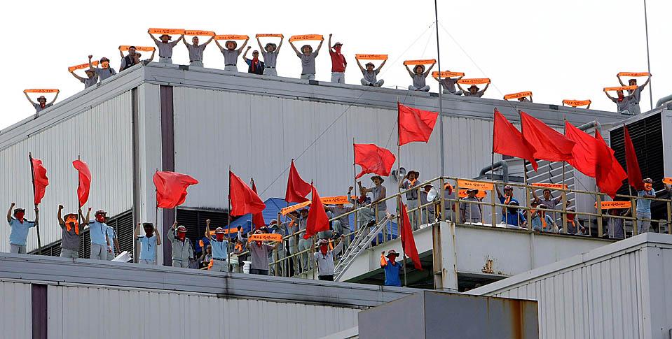 Huelga en la automotriz Ssangyong