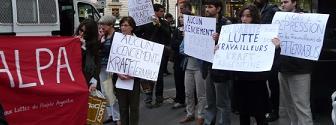Acto en solidaridad a los trabajadores de Kraft-Terrabusi en Paris