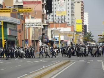 Frente ã violenta repressão ã marcha dos trabalhadores de Aragua