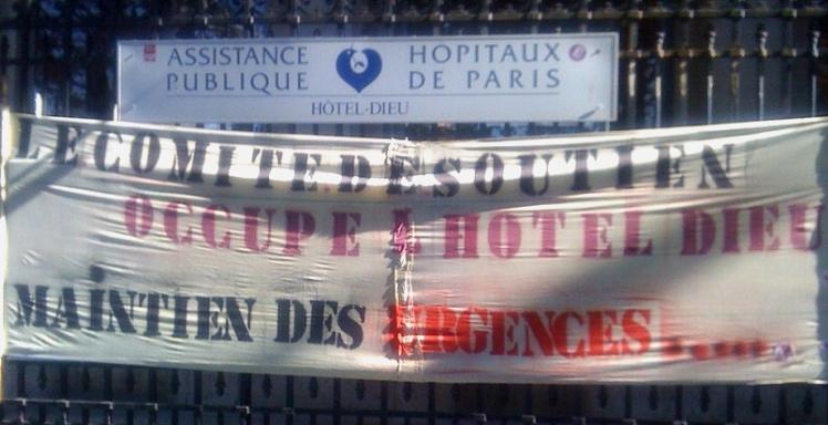 Personnels, usager-ère-s, étudiant-e-s, tou-te-s ensemble contre la fermeture de l'Hôtel-Dieu!