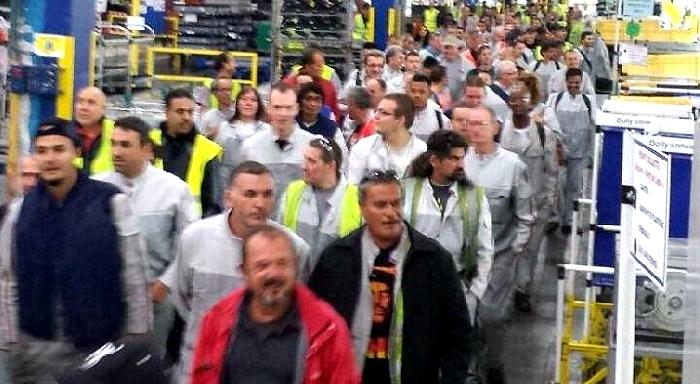 Après le gros débrayage ã PSA Mulhouse, la colère s'étend dans l'ensemble du groupe PSA