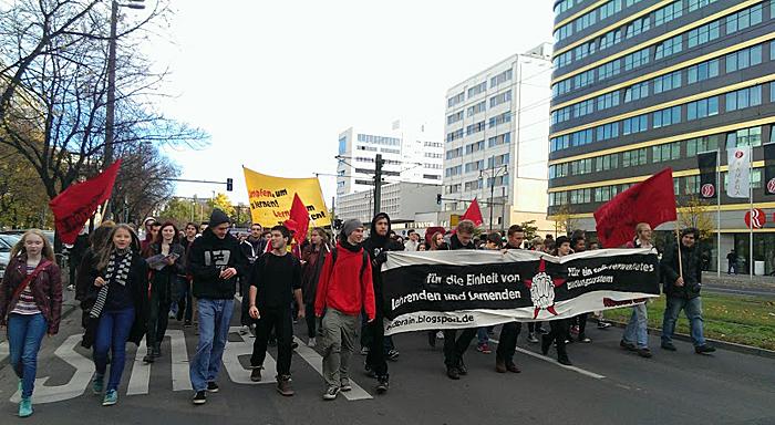 Mouvement de solidarité ã Berlin pour Khatchik et Leonarda
