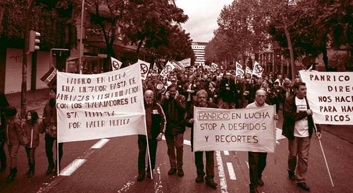 Septième semaine d'une grève exemplaire chez Panrico ã Barcelone
