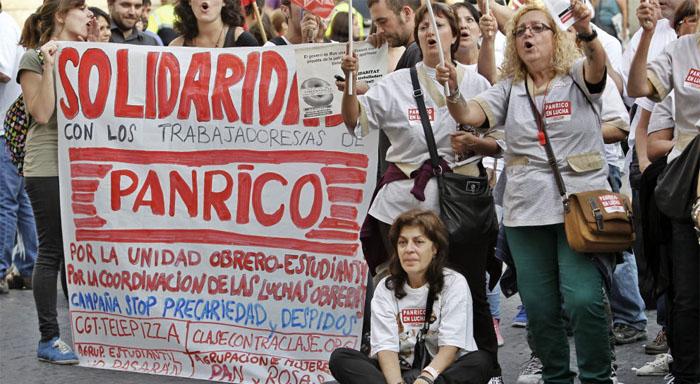 Solidarität mit dem Streik bei Panrico!