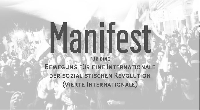 Für eine Bewegung für eine Internationale der sozialistischen Revolution - Vierte Internationale -