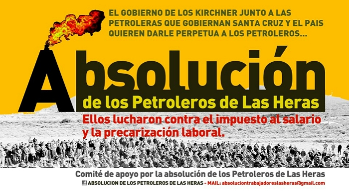 PETITION For the acquittal of the workers of the Las Heras Oil Refinery