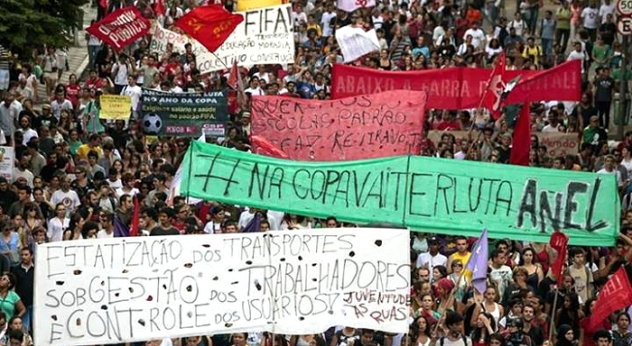 First action against the injustices of the World Cup