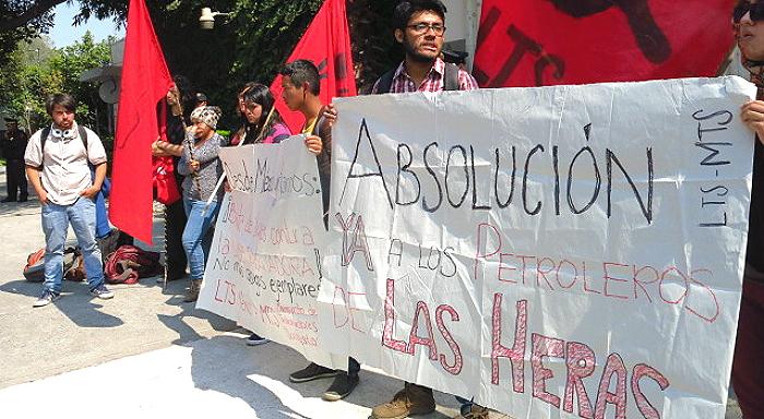 Solidaridad con los petroleros de Las Heras desde México