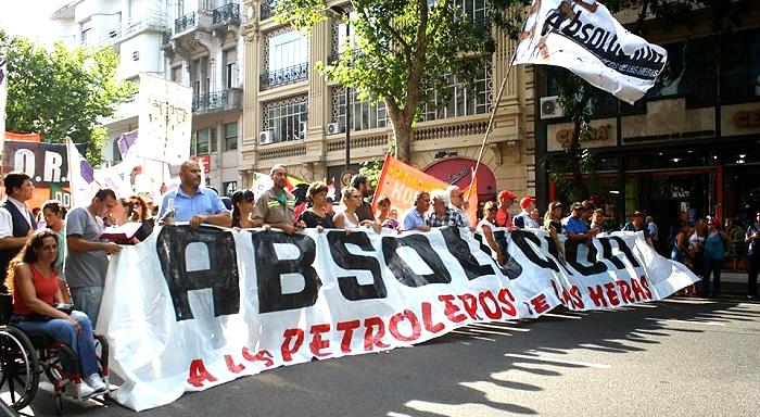 Une mobilisation massive ã Buenos Aires en soutien aux travailleurs de Las Heras