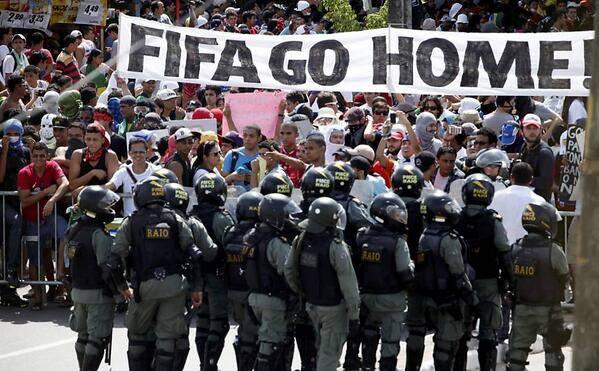 Nuevas manifestaciones y dura represión del gobierno de Dilma Rousseff