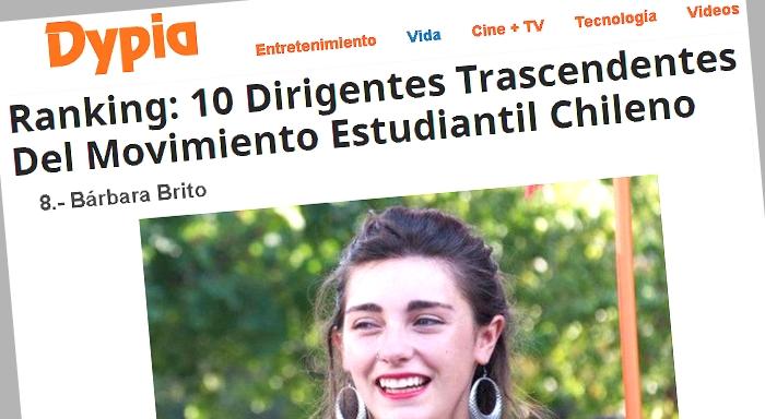 Chile: Bárbara Brito entre los principales dirigentes estudiantiles