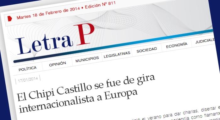 El Chipi Castillo se fue de gira internacionalista a Europa