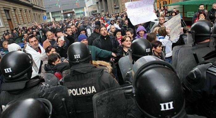 Tage des Zorns in Bosnien