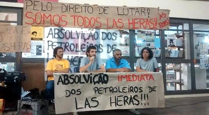Acto-debate por la absolución de los petroleros de Las Heras