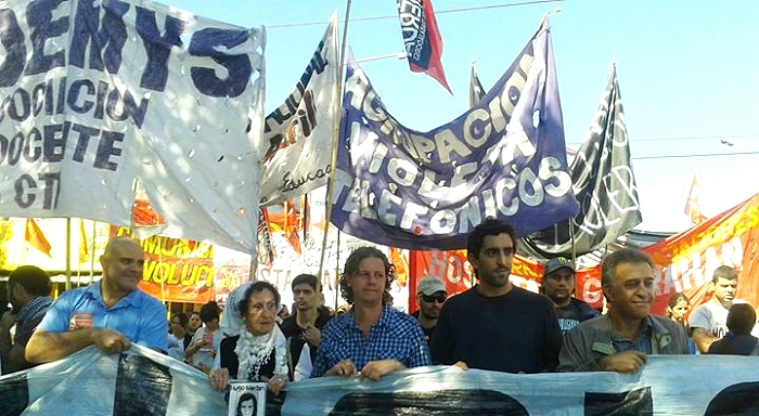 Great day of protests and route blocking for the acquittal of the oil refinery workers condemned in Las Heras