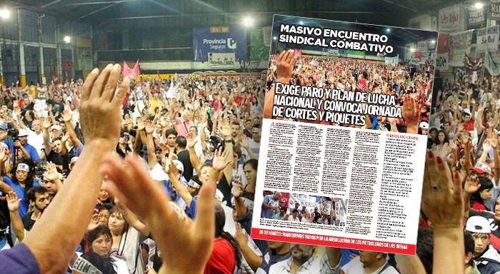 Argentina: Masivo Encuentro Sindical Combativo