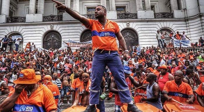 Grande victoire de la grève des balayeurs de Rio de Janeiro