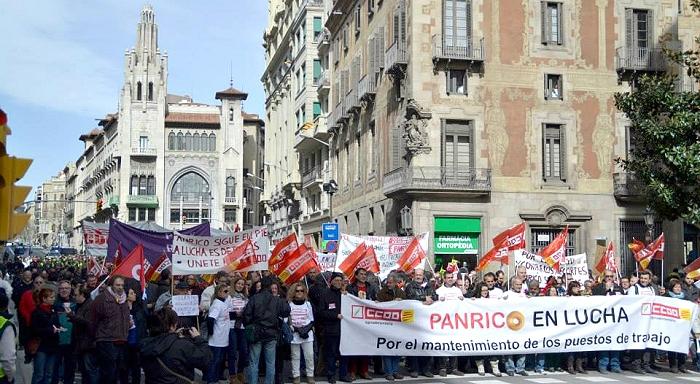 Cinq mois de grève chez Panrico ã Barcelone