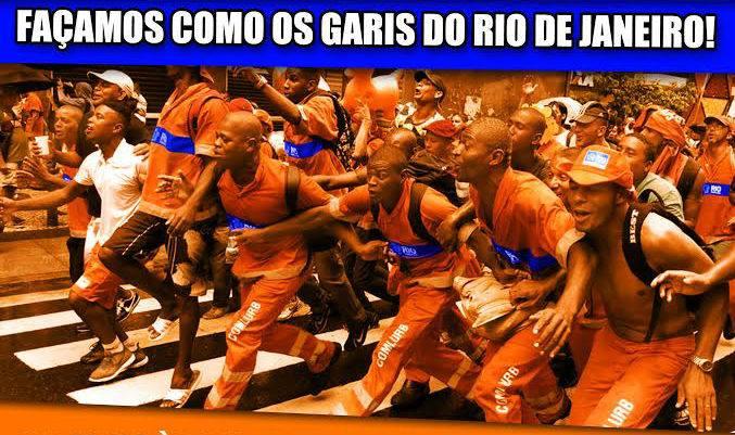 Encontro de Trabalhadores - Façamos como os garis do Rio de Janeiro!