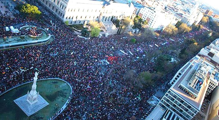 22M: «Ni un paso atrás!» - Manifestation massive ã Madrid