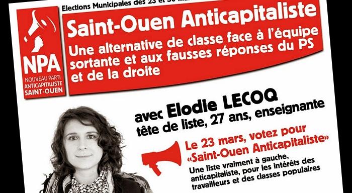 Premier bilan de la campagne menée par «Saint-Ouen Anticapitaliste»
