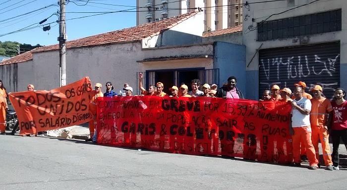 La lucha de los garís (barrenderos) se extiende a San Pablo