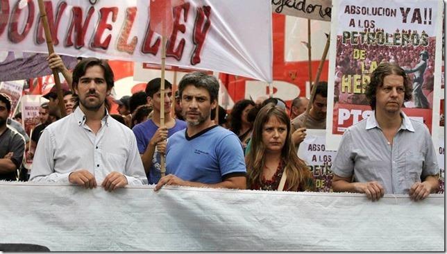 Um amplo arco político apresenta projeto contra a criminalização do protesto
