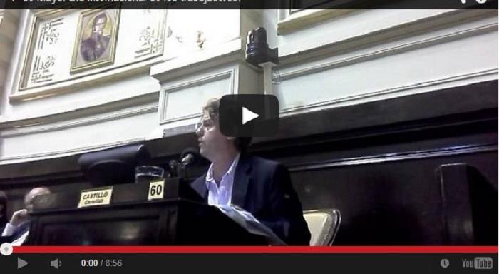 1M Argentina: Christian Castillo en la legislatura bonaerense homenajea a los mártires de Chicago