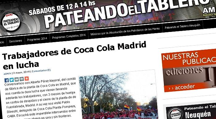 Trabajadores de Coca Cola Madrid en lucha