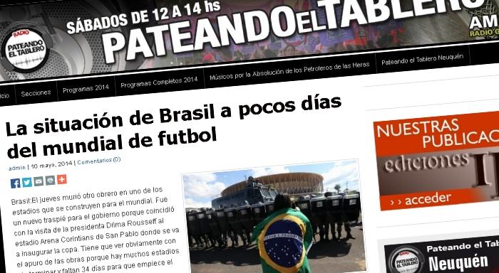 La situación de Brasil a pocos días del mundial de futbol