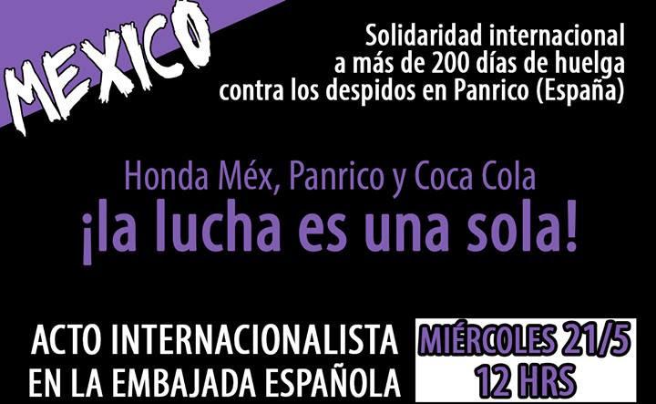 Acto de solidaridad con la Huelga de Panrico de Cataluña