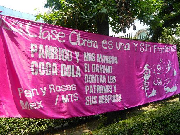 México: acto internacionalista en solidaridad con los trabajadores de Panrico de Barcelona