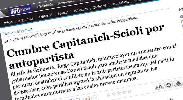 Cumbre Capitanich-Scioli por autopartista