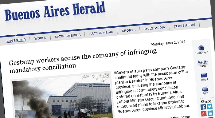 Gestamp workers accuse the company of infringing mandatory conciliation