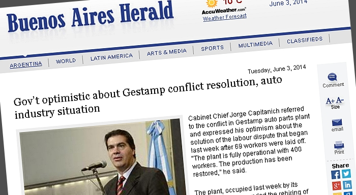 Gov't optimistic about Gestamp conflict resolution, auto industry situation
