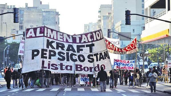 Protesta de los empleados de la ex Kraft