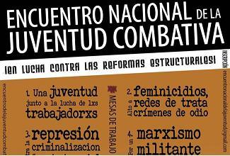 Encuentro Nacional de la Juventud Combativa (ENJC), 14 junio Ciudad de México