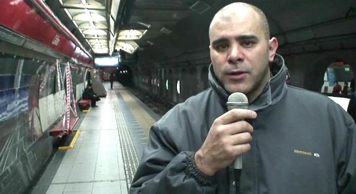 Saudação de Cláudio Dellecarbonara, delegado sindical do metrô de Buenos Aires, aos metroviários de SP