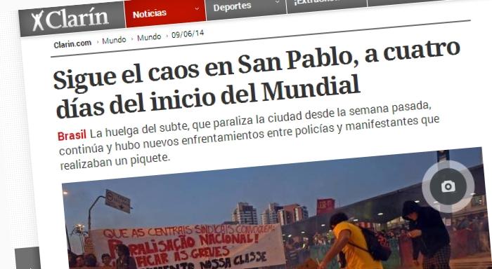 Sigue el caos en San Pablo, a cuatro días del inicio del Mundial