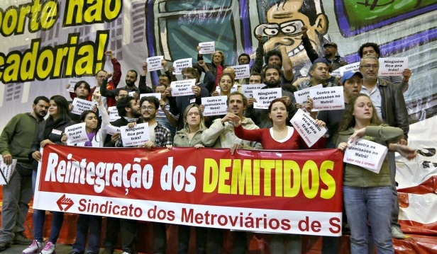 Brazil: The scandalous actions of the Alckmin government. Stop the firing of striking subway workers!