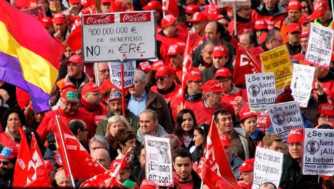 Estado español: Los trabajadores de Coca Cola tumban el ERE en la Audiencia Nacional