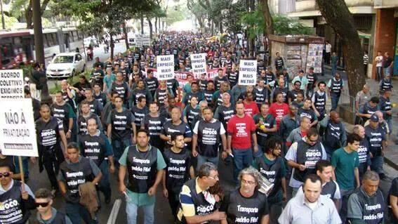 Saludo de la Asamblea de los trabajadores del Subte de Buenos Aires  a los trabajadores del subte de San Pablo