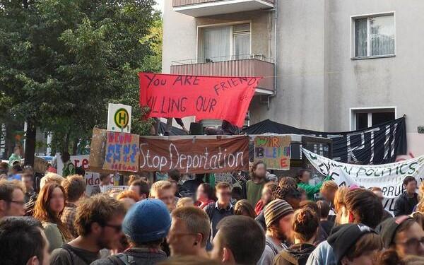 Protestas de los refugiados en Alemania