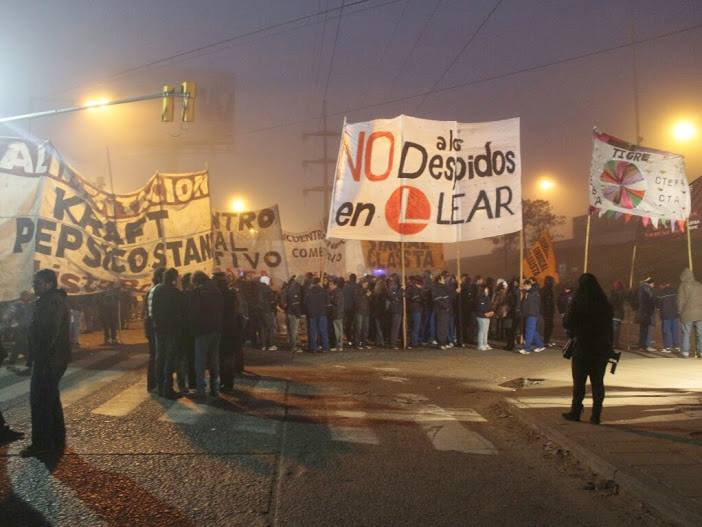 Argentina: On Tuesday July 8th, a national day of struggle in solidarity with Lear workers and against layoffs
