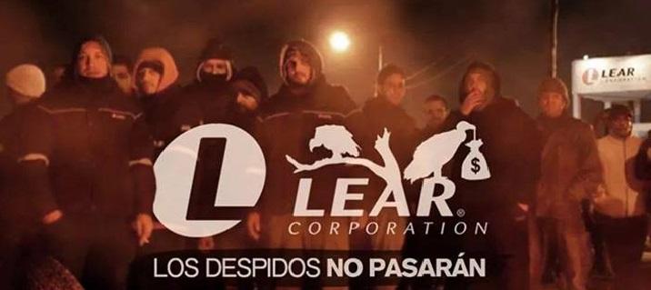 ¡Toda la solidaridad con los obreros de Lear!