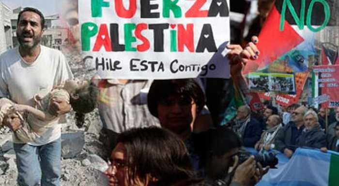 ¡Fuera Israel de Palestina, alto a la masacre!